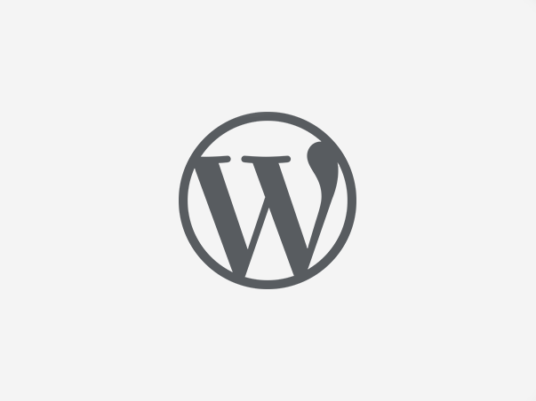 Ikona Wordpress szara